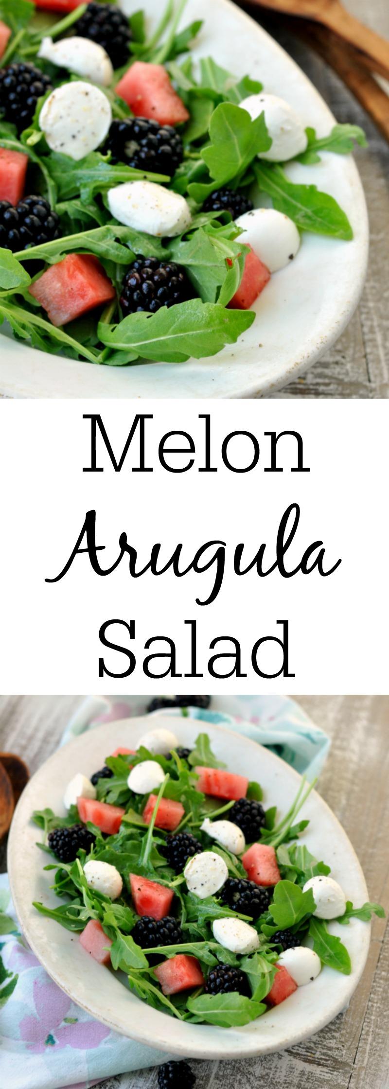 Melon Arugula Salad - My Suburban Kitchen