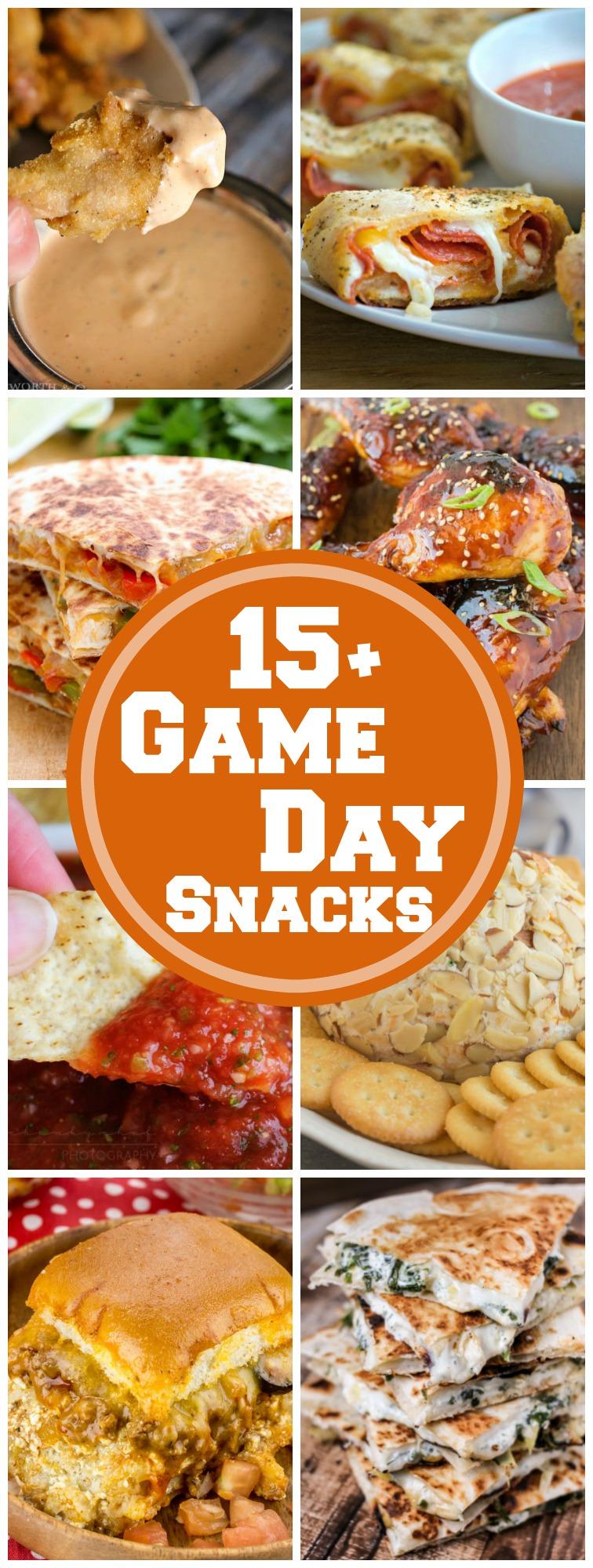 15+ Game Day Snacks