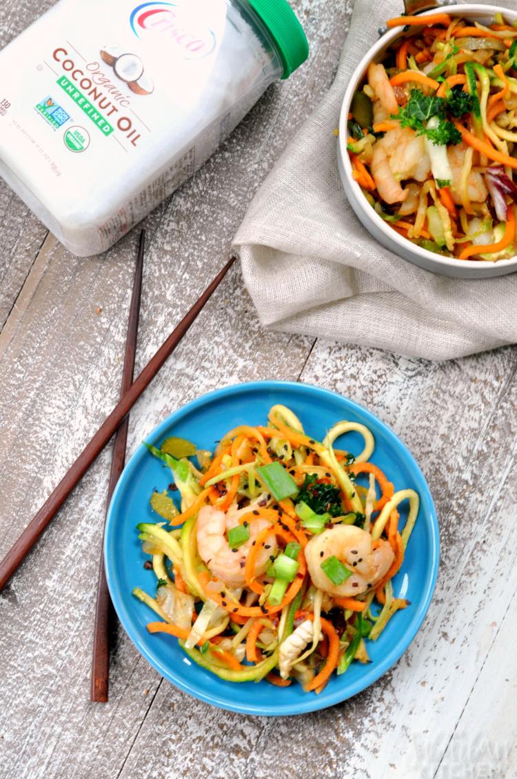 Shrimp Vegetable Noodle Chow Mein