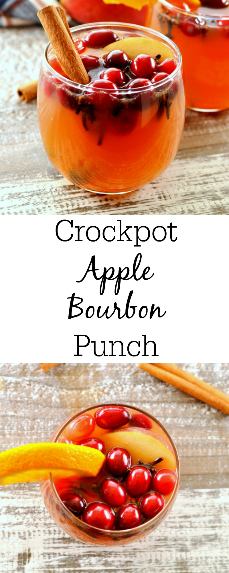Crockpot Cranberry Apple Bourbon Punch