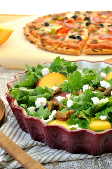 Stone Fruit Salad and Pizza