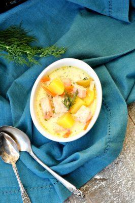 Crock-Pot Salmon Potato Soup