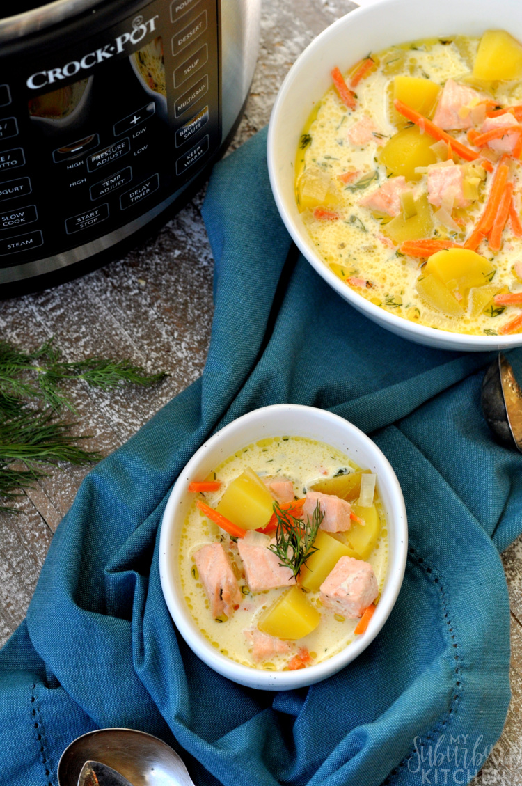 Crock-Pot Salmon Potato Soup