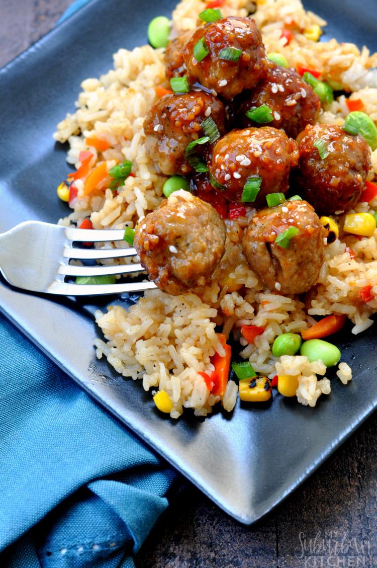Sriracha Glazed Meatballs