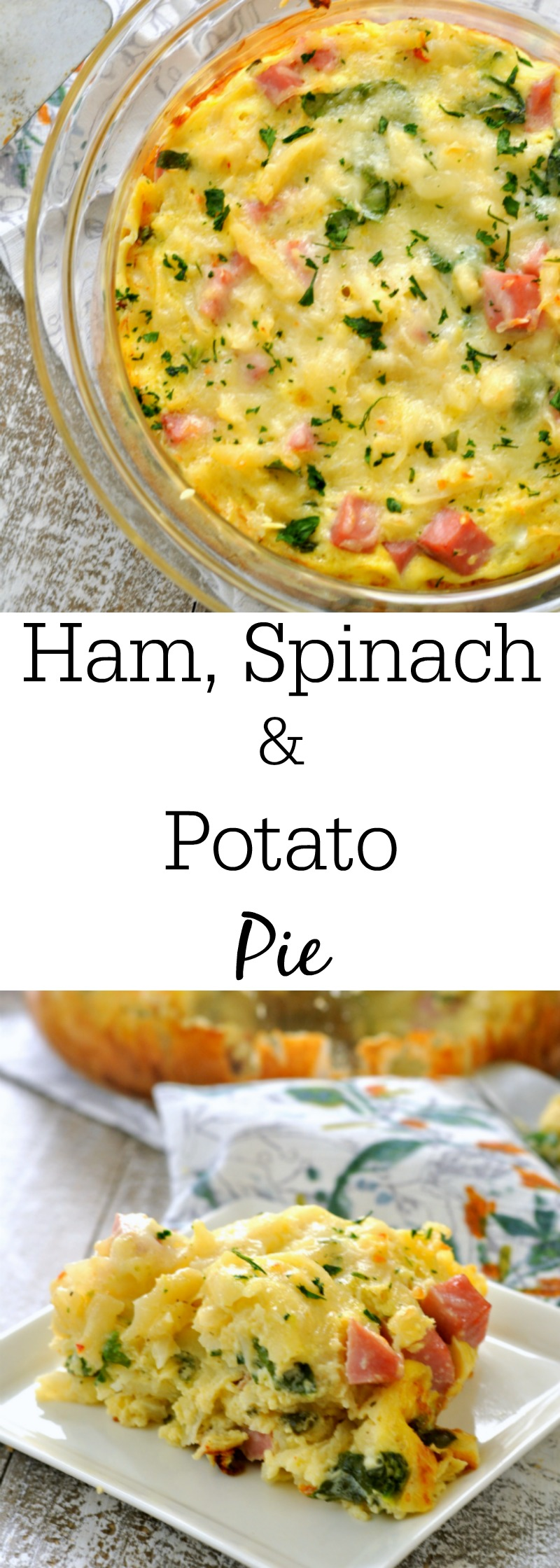 Ham, Potato and Spinach Pie