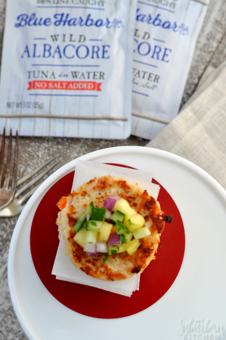 Hawaiian Tuna Cakes with Pineapple Habanero Salsa