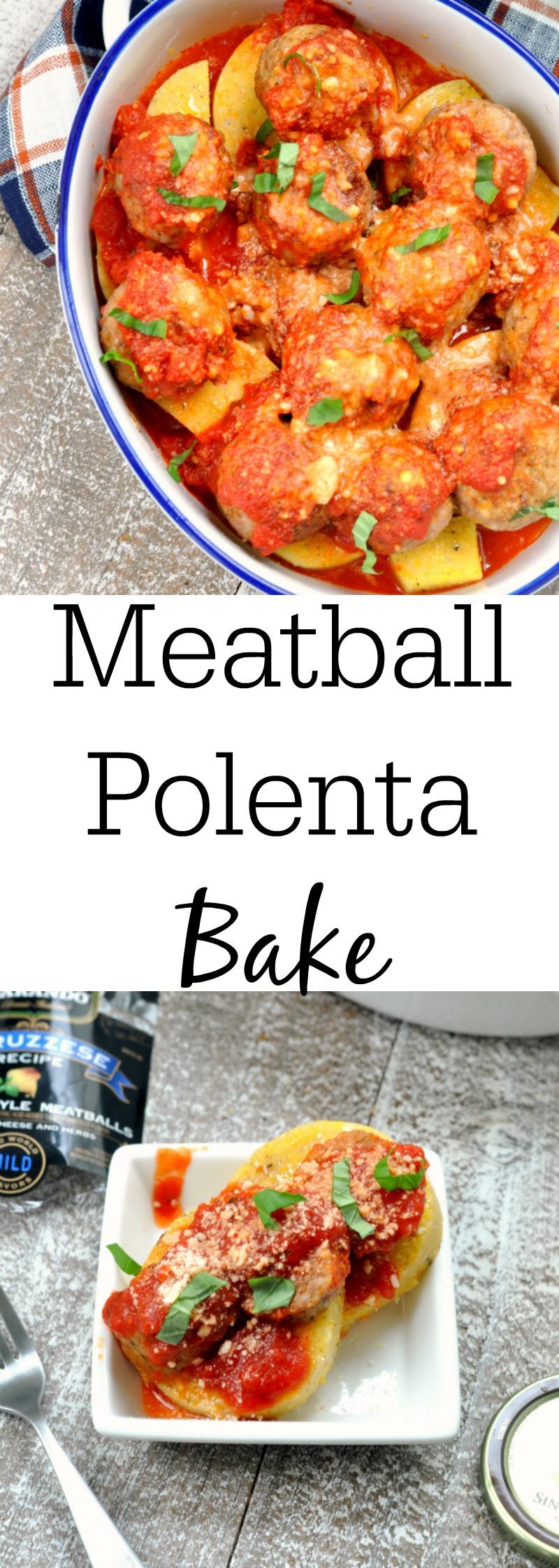 Meatball Polenta Bake