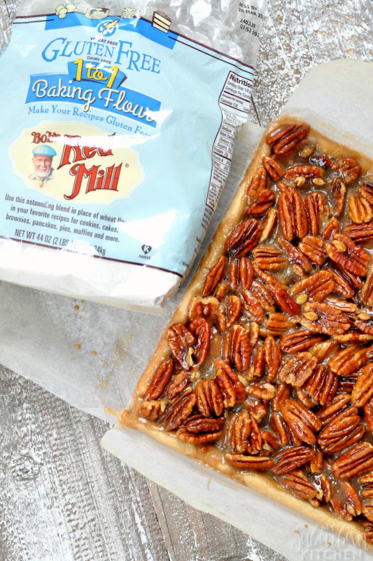 Easy Gluten Free Pecan Pie Bars