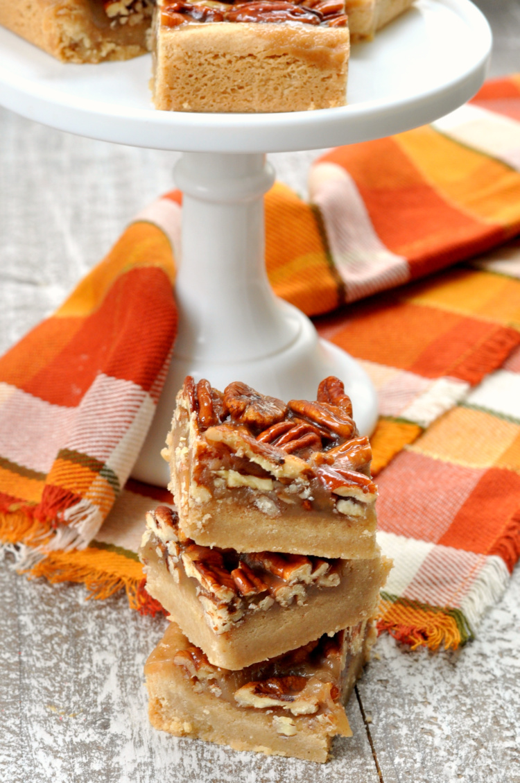Gluten Free Pecan Pie Bars Dessert Recipe