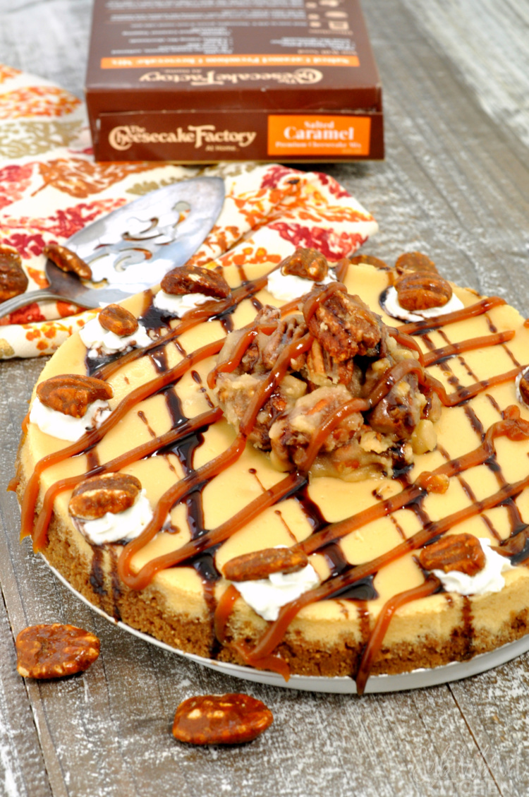 Salted Caramel Praline Cheesecake