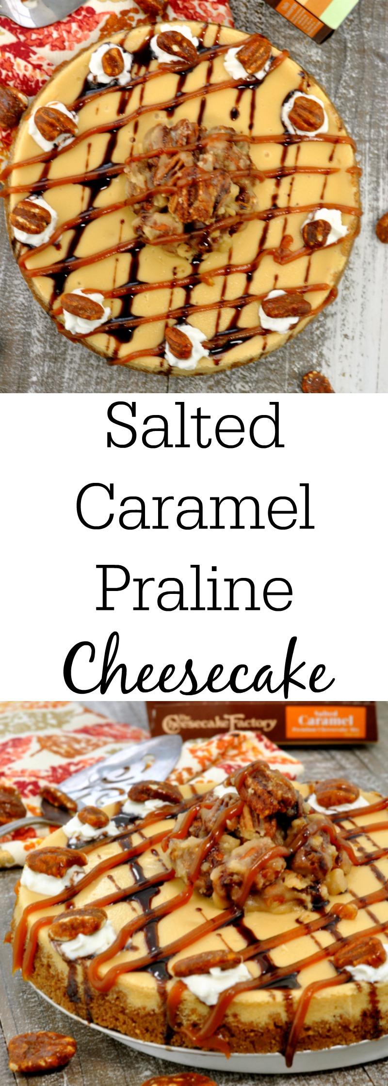 Salted Caramel Praline Cheesecake
