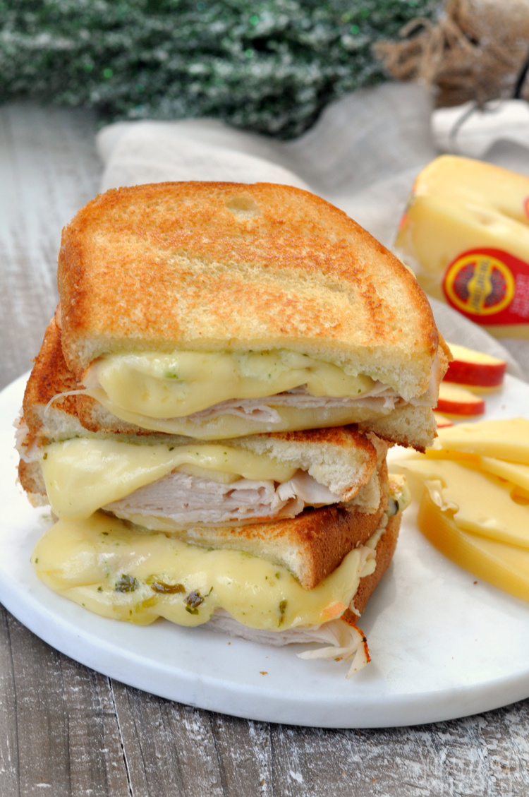 Tasty Turkey Apple Grilled Cheese