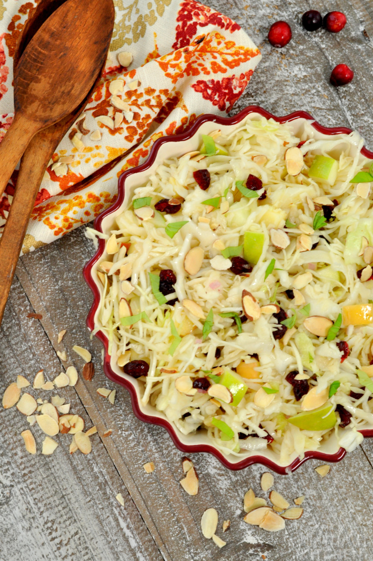 Cranberry Apple Slaw