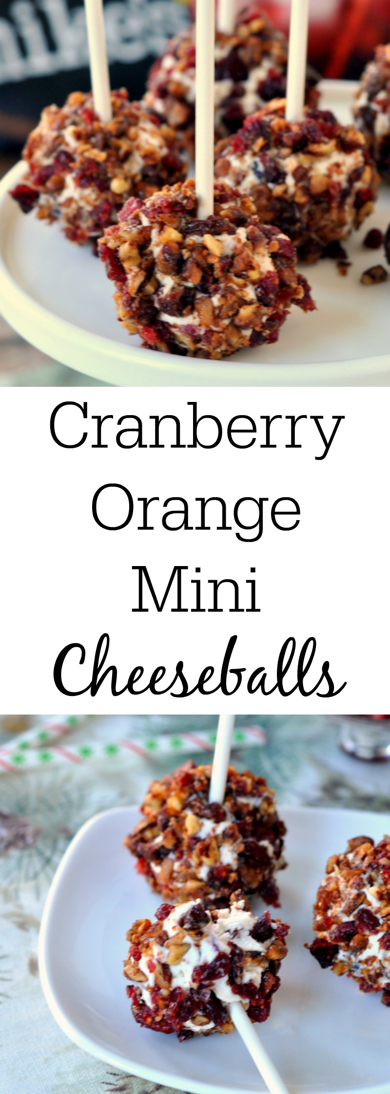 Cranberry Orange Mini Cheese Balls
