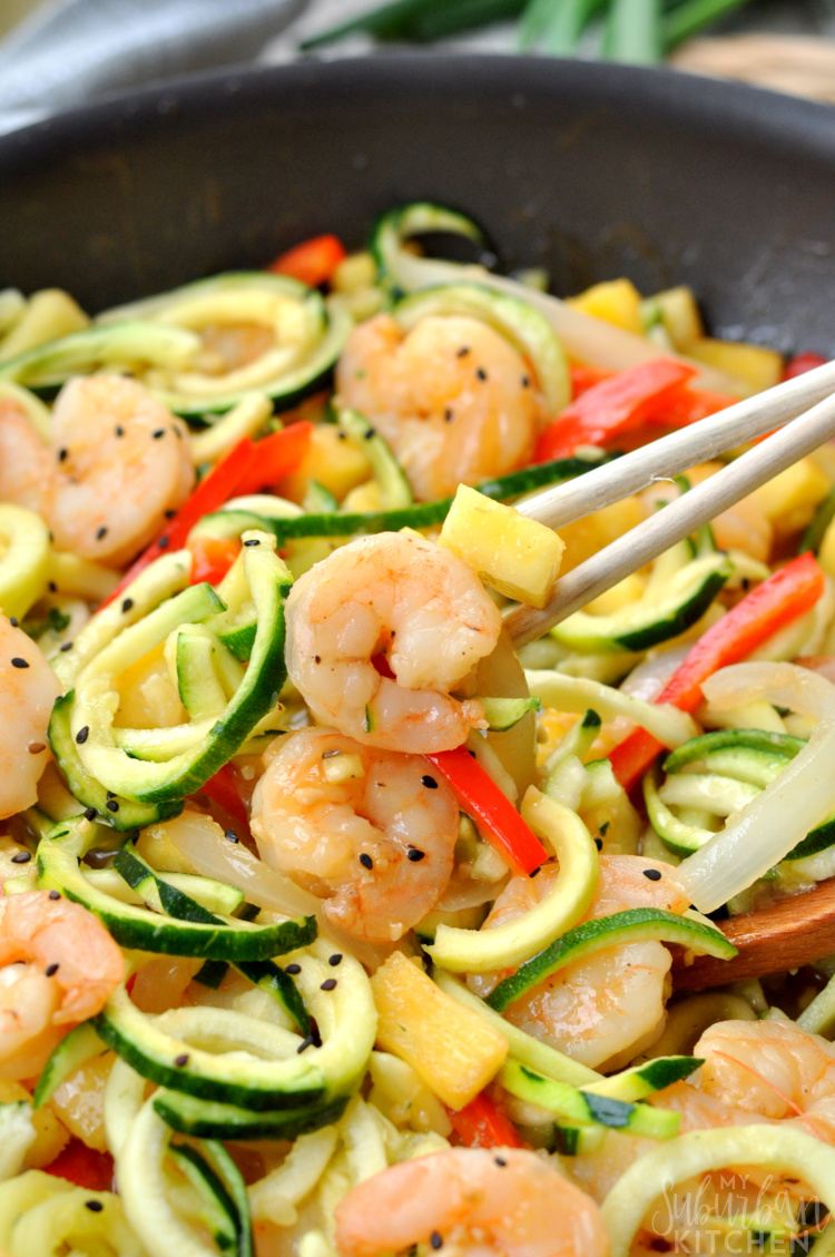 Teriyaki Shrimp Vegetable Noodles photo