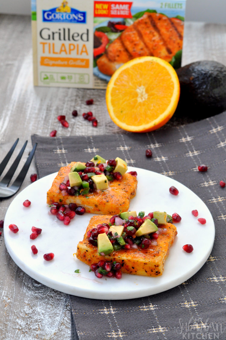Tilapia with Pomegranate Salsa photo