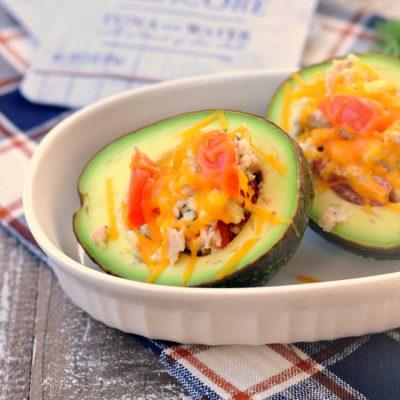 Tuna Melt Stuffed Avocado