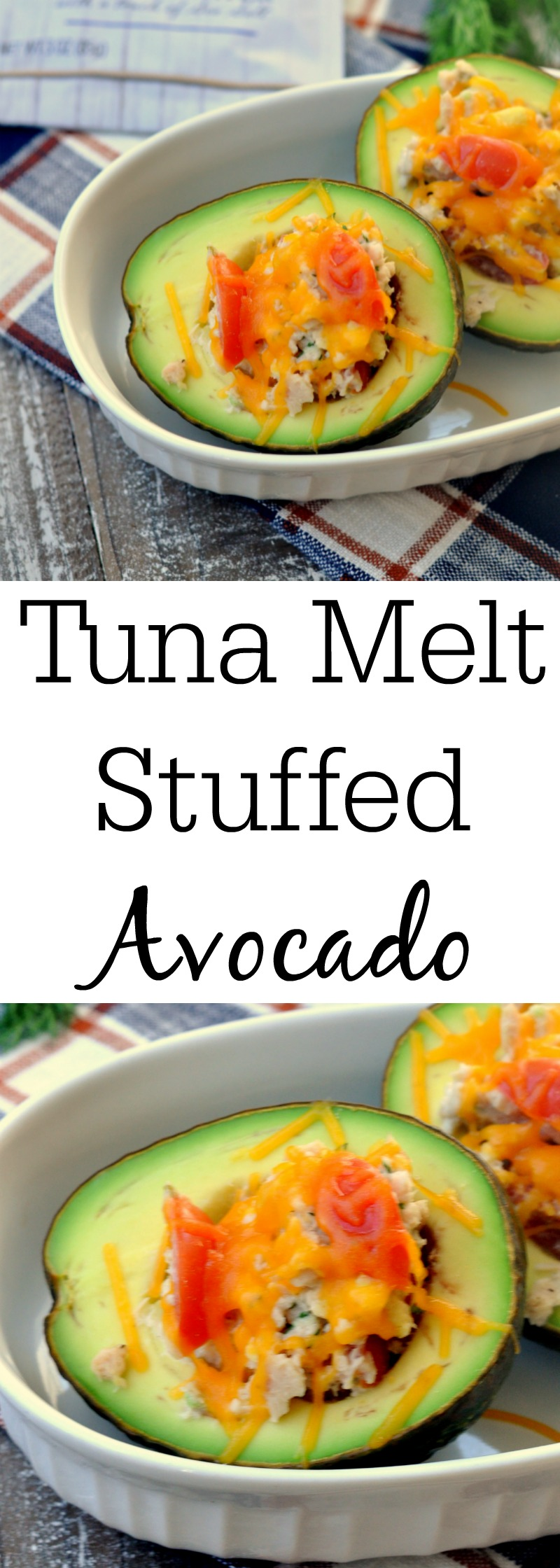 Tuna Melt Stuffed Avocado