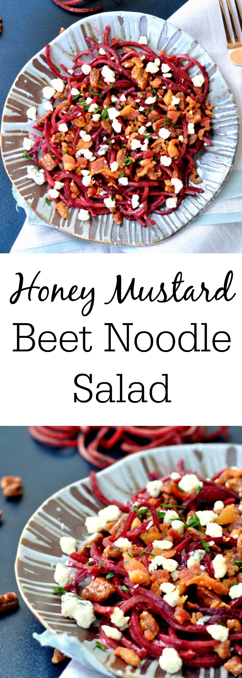 Honey Mustard Beet Noodle Salad