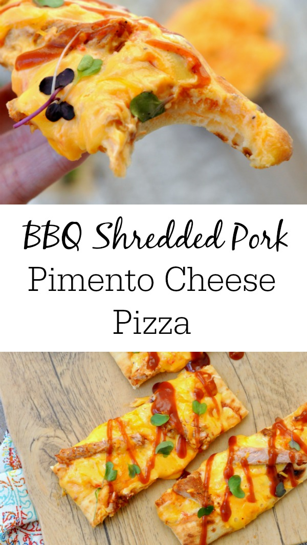 BBQ Shredded Pork Pimento Cheese Pizza