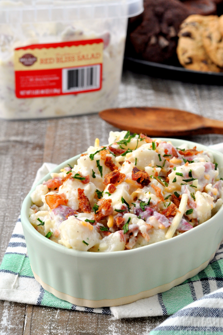 Cheddar Bacon Ranch Potato Salad