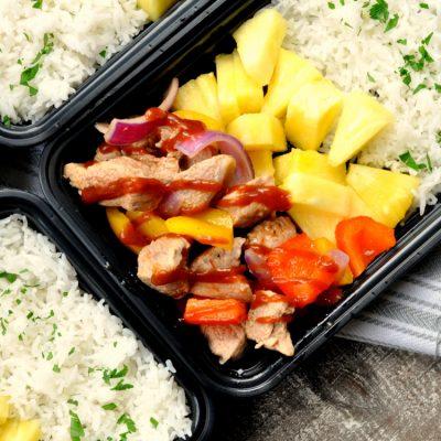 Hawaiian BBQ Pork Meal Prep Bowls