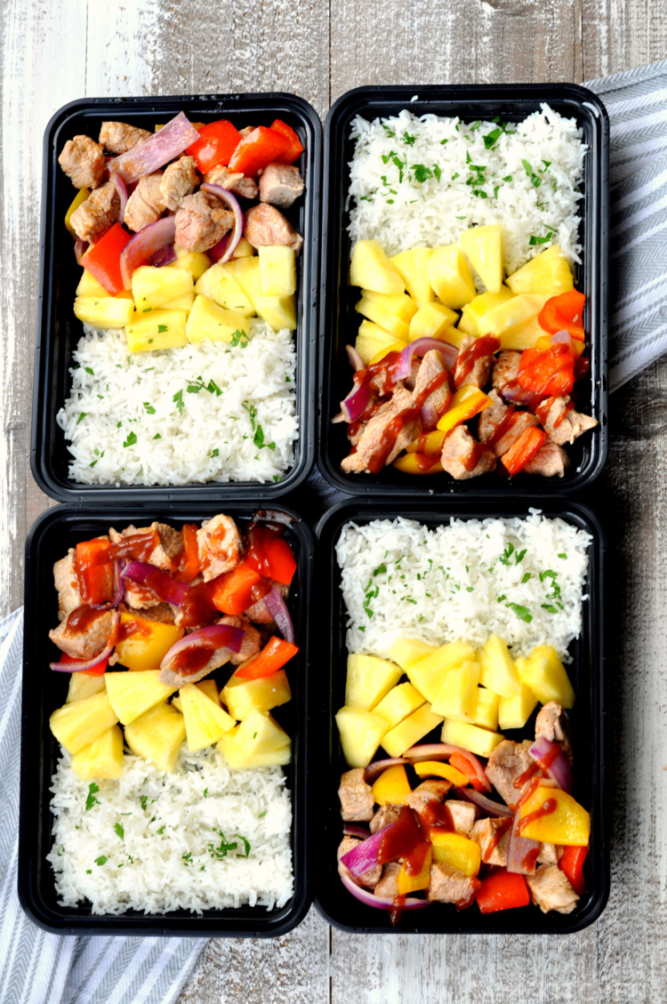 Hawaiian BBQ Pork Meal Prep Bowls