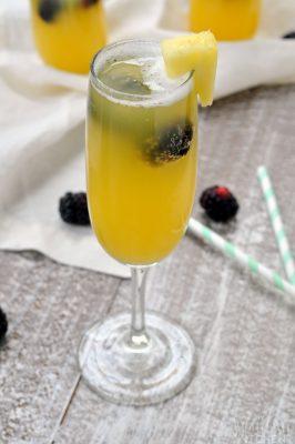 Pineapple Blackberry Mimosa