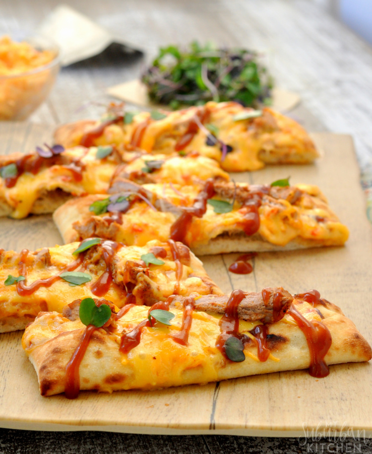 BBQ Pork Pimento Cheese Pizza