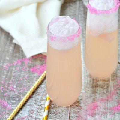 Pink Grapefruit Sorbet Mimosa