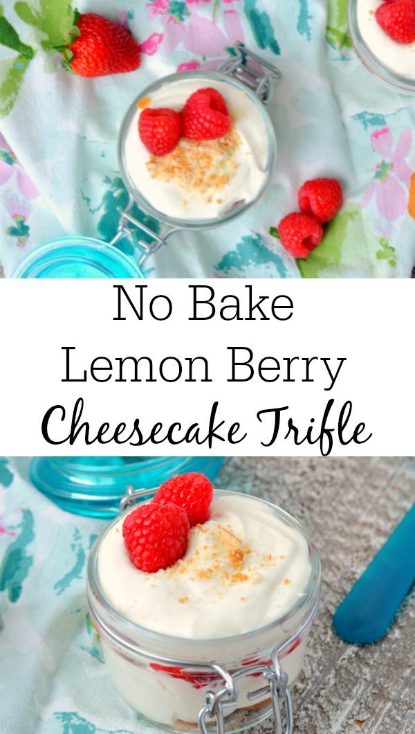 Mini No Bake Lemon Berry Cheesecake Trifle