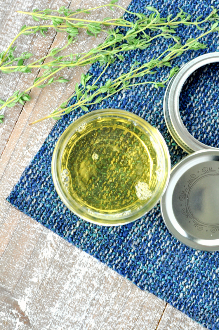 How to Make Thyme Simple Syrup
