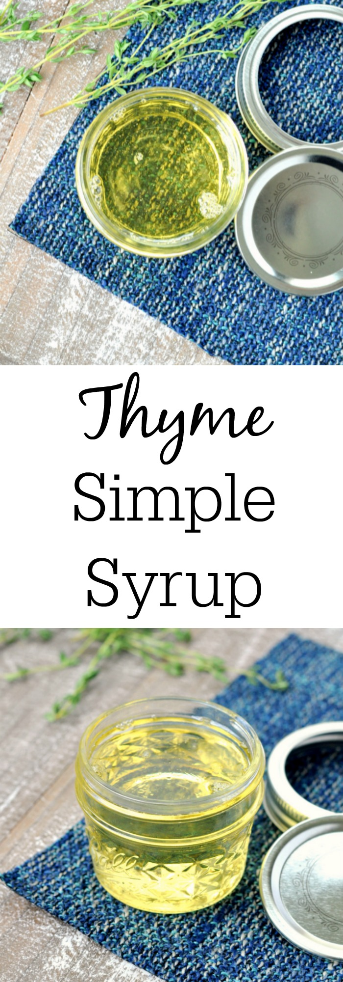 How to Make Thyme Simple Syrup (or any other flavor too)