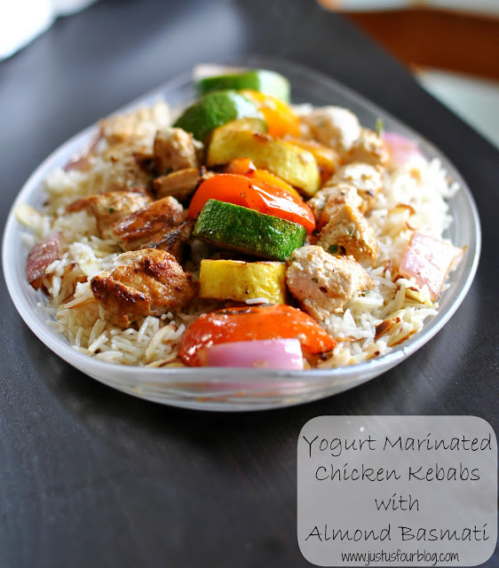 Yogurt Marinated Chicken with Almond Basmati