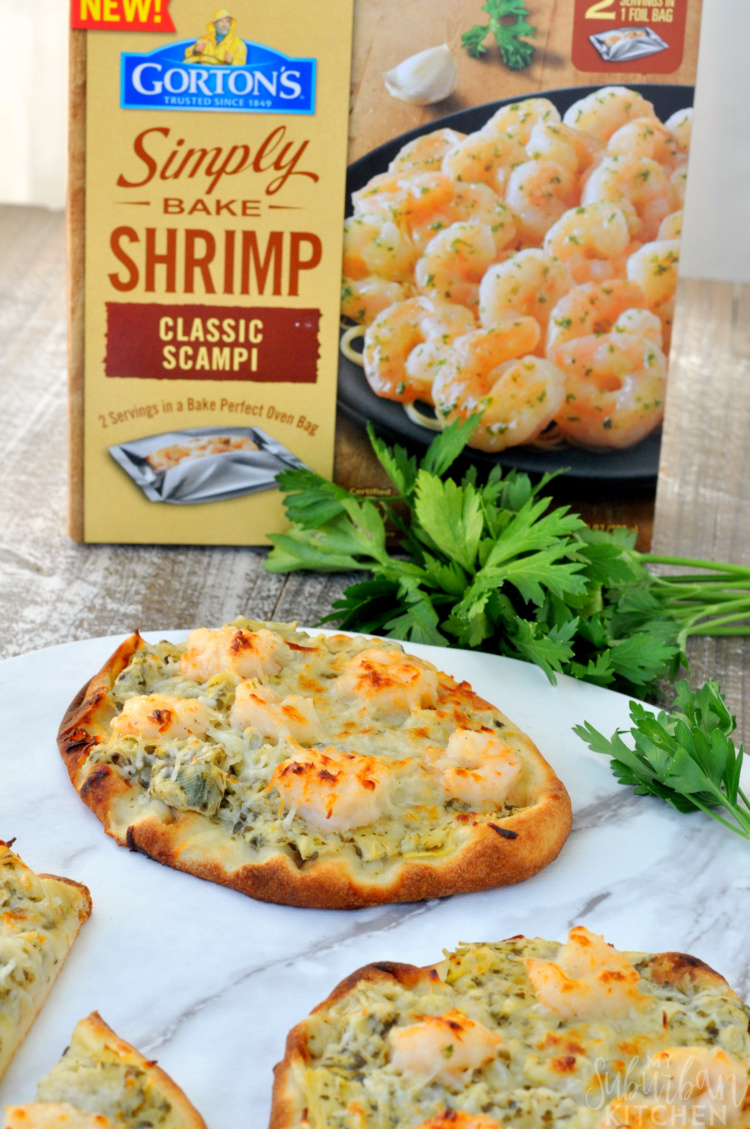 Easy Shrimp Scampi Pizza