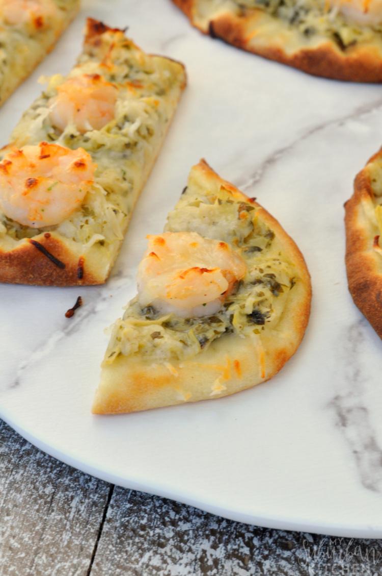 Easy Shrimp Scampi Pizza