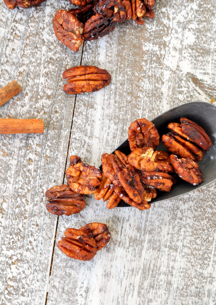 Chai Spiced Roasted Pecans