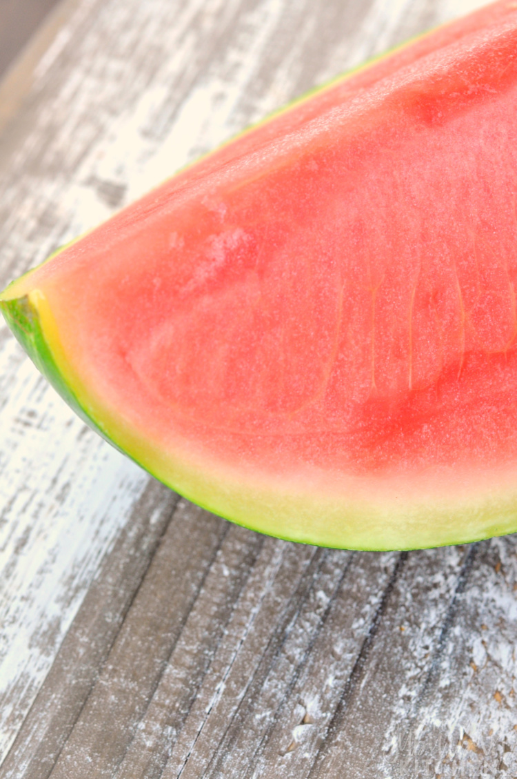 Wedge of cut watermelon