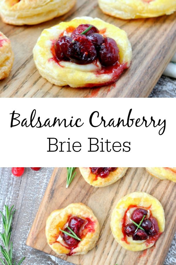 Balsamic Cranberry Brie Bites make the best appetizers for any party! From Christmas party to food to fancier game day fare, these little finger foods can't be beat.