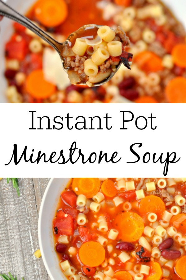 Pinterest Collage for Instant Pot Minestrone Soup