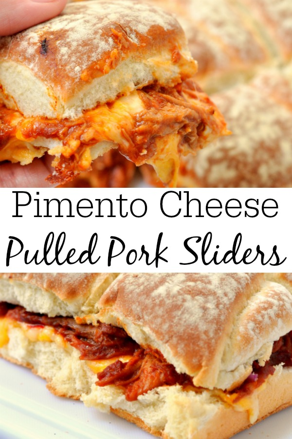 Pimento Cheese Pulled Pork Sliders