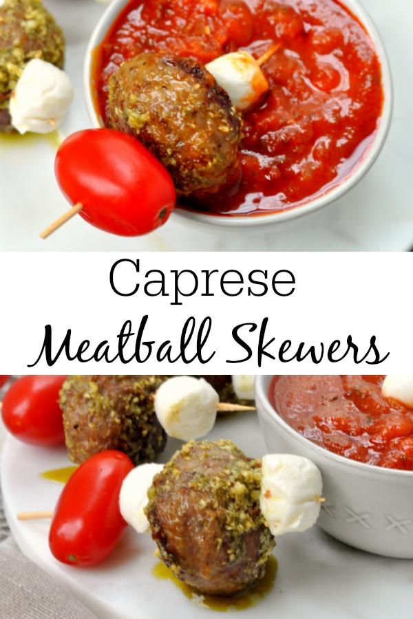 Caprese Meatball Skewers