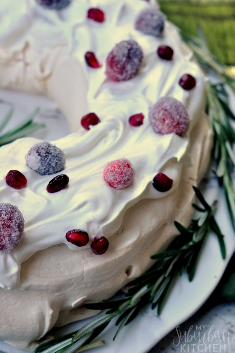 Holiday Pavlova Dessert