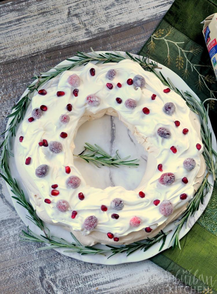 Holiday Pavlova Dessert