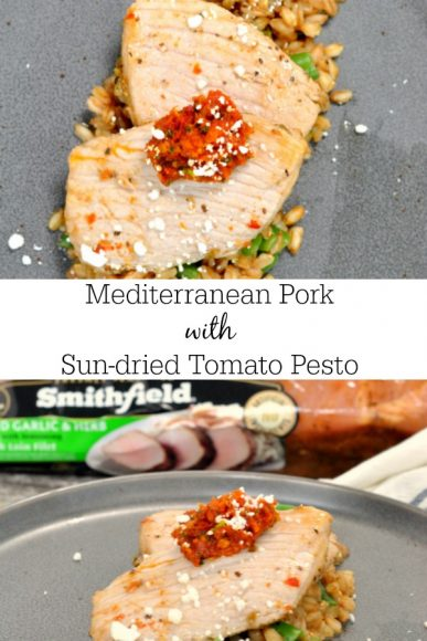 Mediterranean Pork Medallions with Sun-dried Tomato Pesto