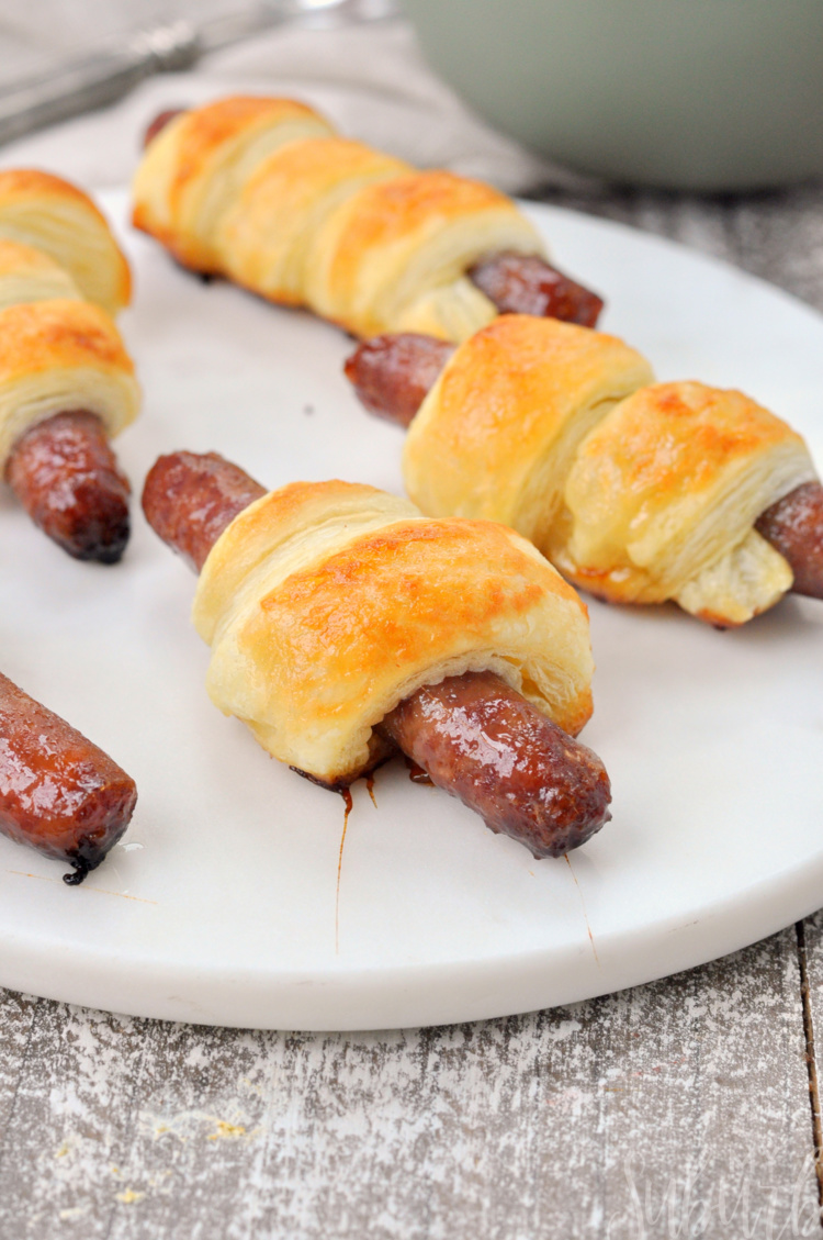 Up close photo of Breakfast Sausage Roll-Ups