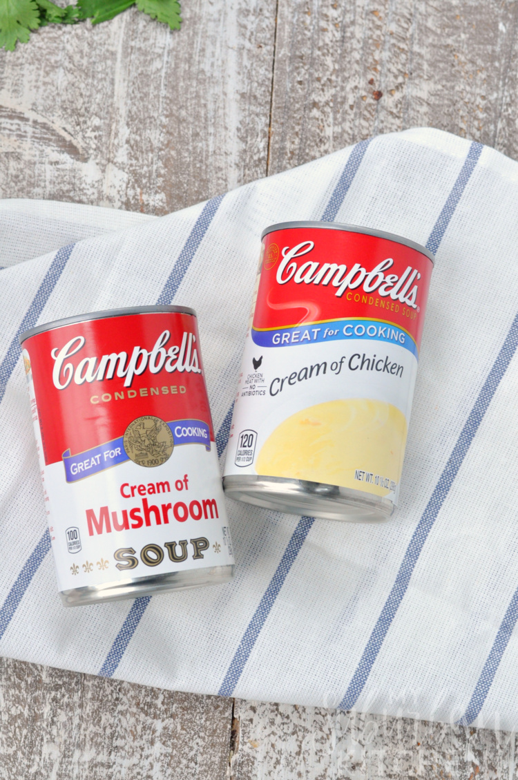 Overhead photo of Campbell's Condensed Soup Cans