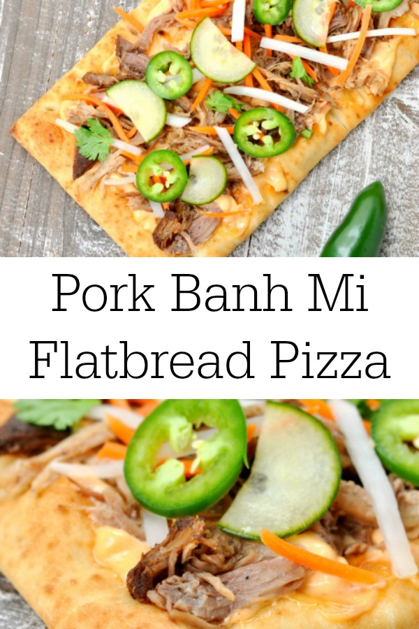 Pork Banh Mi Flatbread Pizza