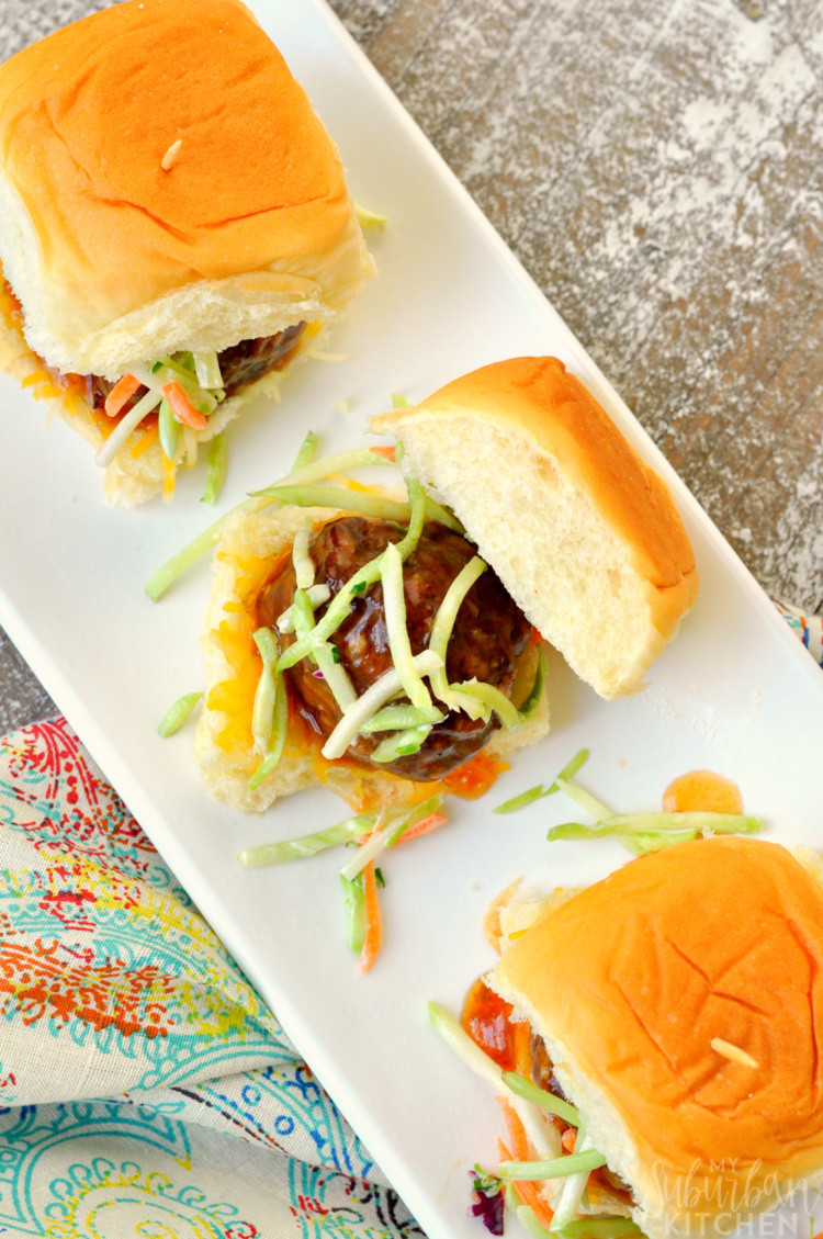Pineapple Meatball Sliders