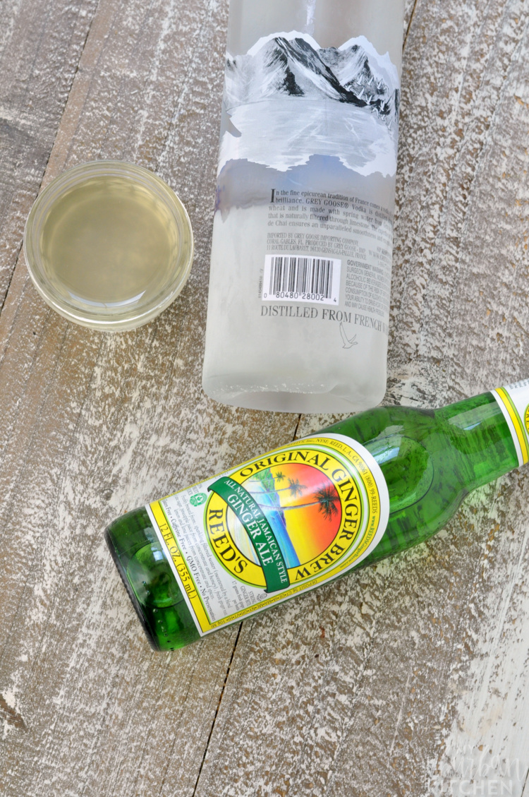 Ingredients for Moscow Mule Popsicles